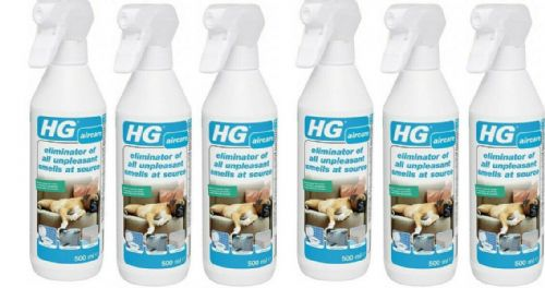 HG eliminator of all unpleasant smells at source 500ml Pack of 6